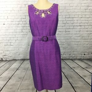 Antonio Melani size 8 purple holiday party dress